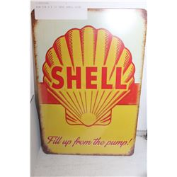 NEW TIN 8 X 12 INCH SHELL SIGN