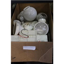 BOX OF EMERGENCY AND OTHER LIGHTING