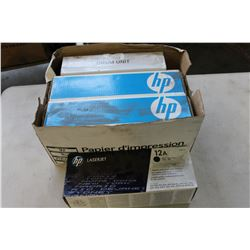 BOX OF HP INK CARTRIDGE REPLACEMENTS
