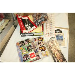 TRAY OF BASKETBALL COLLECTIBLES BROCHURES AND CARDS