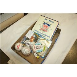 BASEBALL MEMORIBILIA SIGNED BASEBALL CARDS ETC