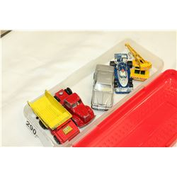 TRAY OF LESNEY DIE CAST CARS
