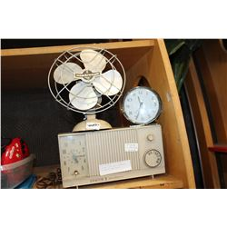 VINTAGE CLOCK RADIO SEABREEZE FAN AND BIG BEN CLOCK