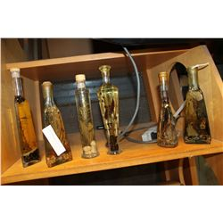 LOT OF DECORATOR OIL BOTTLES