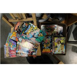 LARGE BOX OF MARVEL AND DC COMICS