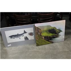 SALMON PRINT AND CANVAS LANDSCAPE