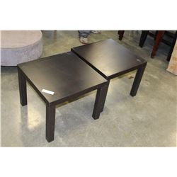 PAIR OF ESPRESSO FINISH ENDTABLES