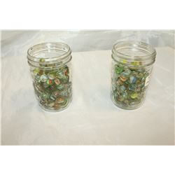 TWO JARS 1950S MARBLES