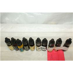 TEN ASSORTED VAPE JUICE BOTTLES