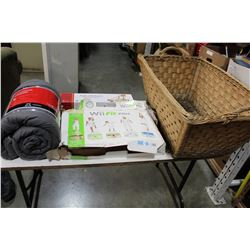 WICKER BASKET COMFORTER WII FIT ETC