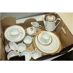 CHINA TEASET AND DISHES