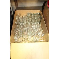 BOX OF GLASS TEALIGHT HOLDERS