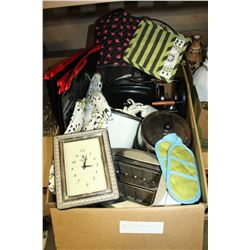 LARGE BOX OF ESTATE KITCHEN WARES