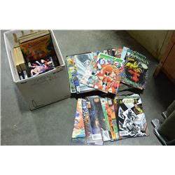 BOX OF COLLECTIBLE COMICS ETC
