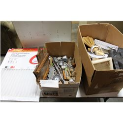 FURNACE FILTERS AND BOX OF ESTATE GOODS