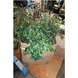 LARGE BOX OF SILK PLANT GREENERY