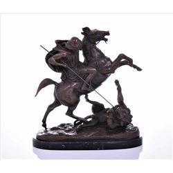 """Antoine-Louis Barye (1795-1875), """"Arab Horse"""
