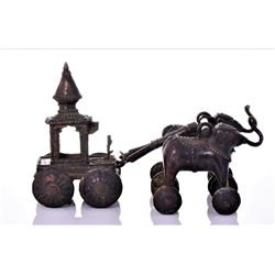 Rare Antique Bronze Jagannath Temple toy of a