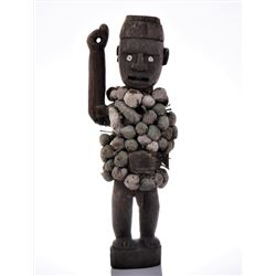 African Congo Yombe Nail Power Figure Fetish,