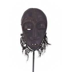 African Lega Wood Mask, Congo. Estimated more