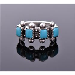 Navajo Sleeping Beauty Blue Turquoise Sterling