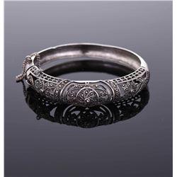 Vintage Sterling Silver Marcasite bracelet 24