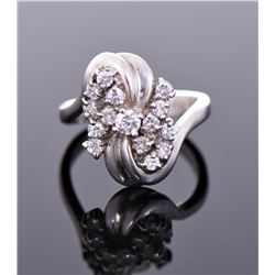 Seta Sterling Silver CZ Cluster Ring.