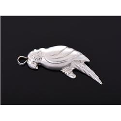 Vintage Sterling Silver parrot pendant or pin