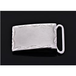 Anson Sterling Silver Belt Buckle. Estimated