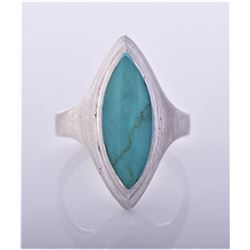 Turquoise Sterling Silver Ring, Thailand.