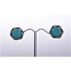 Sterling Silver Turquoise Earrings. Estimated