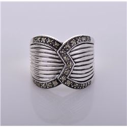 Vintage Marcasite Sterling Silver Ring.