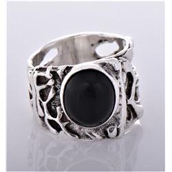 Vintage Brutalist Sterling Silver Ring. Silver