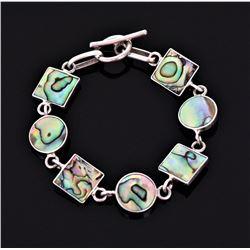Sterling Silver Abalone Bracelet. Silver Test