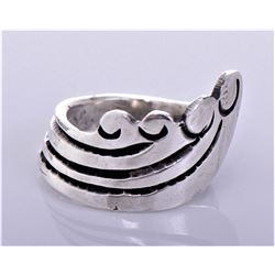 Antique Sterling Silver Spoon Ring. Ring Size