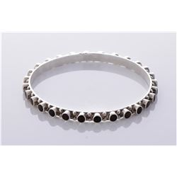 Tiger eye studded sterling silver bracelet.