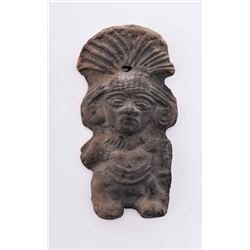Pre-Columbian Artifact Of A Mayan God Figure.