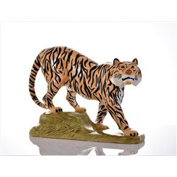Mid Century Modern Ceramic Tiger Sculpture,