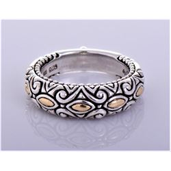Barbara Bixby Etched Swirl Floral Ornate Sterling