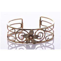 Vintage Krementz Rose Gold Plated Cuff Bracelet