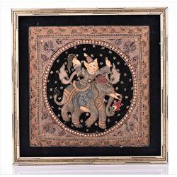 Burmese Kalaga Tapestry. Art of Myanmar