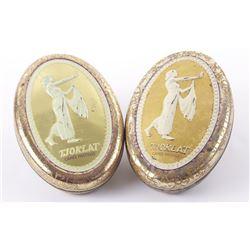 Two Vintage Tjoklat Camee Pastilles embossed