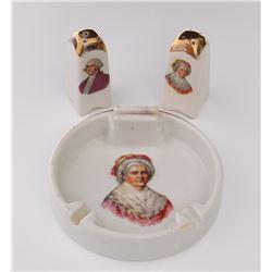 Mid Century George & Martha Washington ashtray