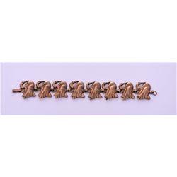 Vintage Gold Tone/Plated Swan Bracelet.