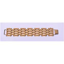 Vintage Monet Gold Tone Chunky Bracelet.