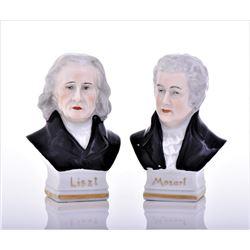 Vintage Capodimonte Erphila Porcelain Busts