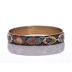 Vintage Gold Tone/Plated Cloisonne Bracelet.