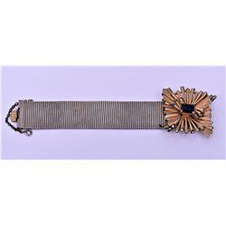 Vintage Gold Tone/Plated Starburst Bracelet