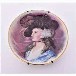 Porcelain Collectors Plate painted by
