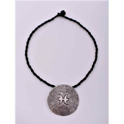 South East Pacific Pendant With Leather Necklace